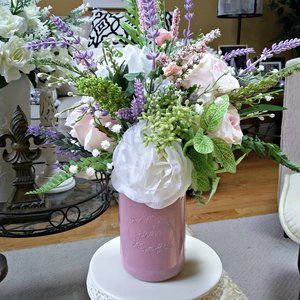 VINTAGE Inspired ROSE Mason JAR Floral DECOR